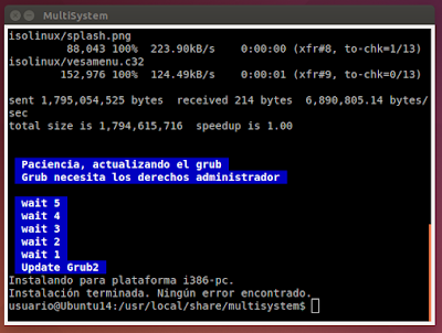 MultiSystem actualizando Grub2