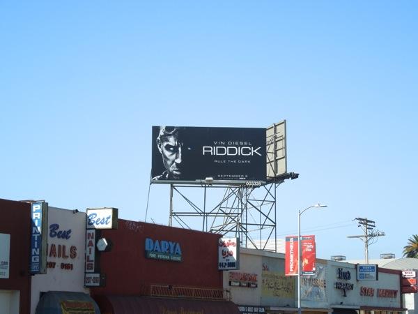 Riddick film billboard