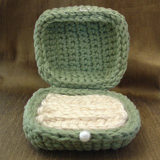 Crochet Ring Box Made By Vicky Brown of Shore Debris