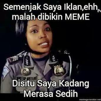"""Foto-Foto Meme Lucu Polwan """"Disitu Kadang Saya Merasa Sedih"""""""