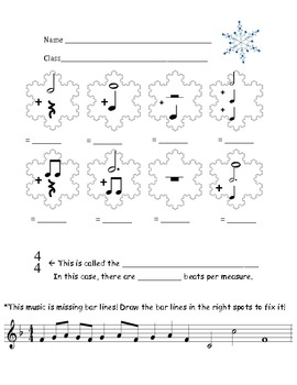 math worksheet : the sharp music teacher snowflake music math : Musical Math Worksheets