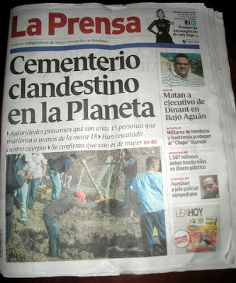 La Prensa Honduras headlines 06-08-11