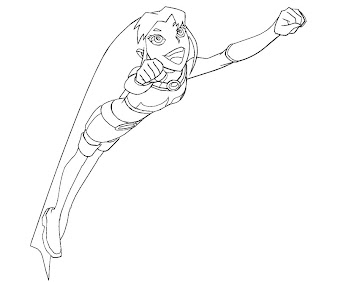 #4 Starfire Coloring Page