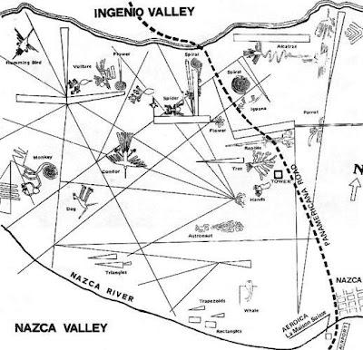 Peta Misteri Garis Nazca di Peru