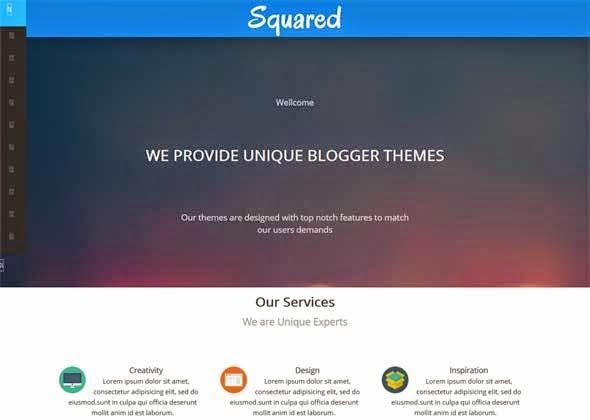 Responsive Squared Portfolio Blogger Template Free