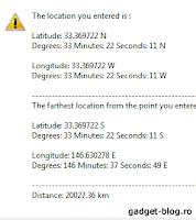 Latitude & longitude calculator