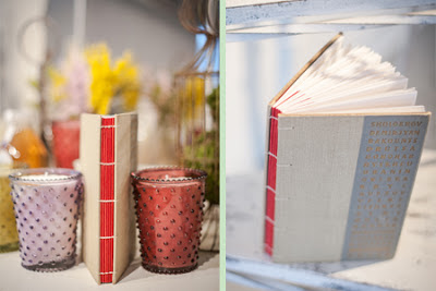 Handmade book with vintage book covers