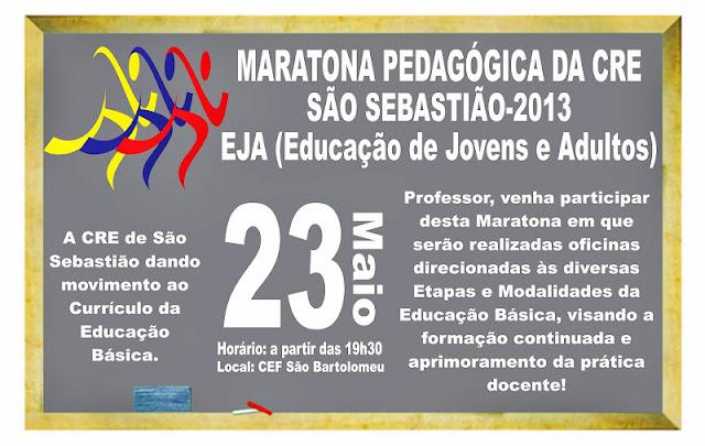 Maratona Pedagógica da EJA de São Sebastião