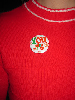 you turn me on vintage badge 70s 1970