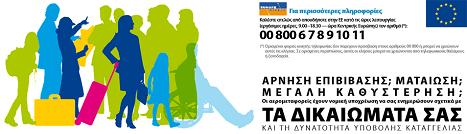 Τα Δικαιώματα των επιβατών που ταξιδεύουν με αεροπλάνο.