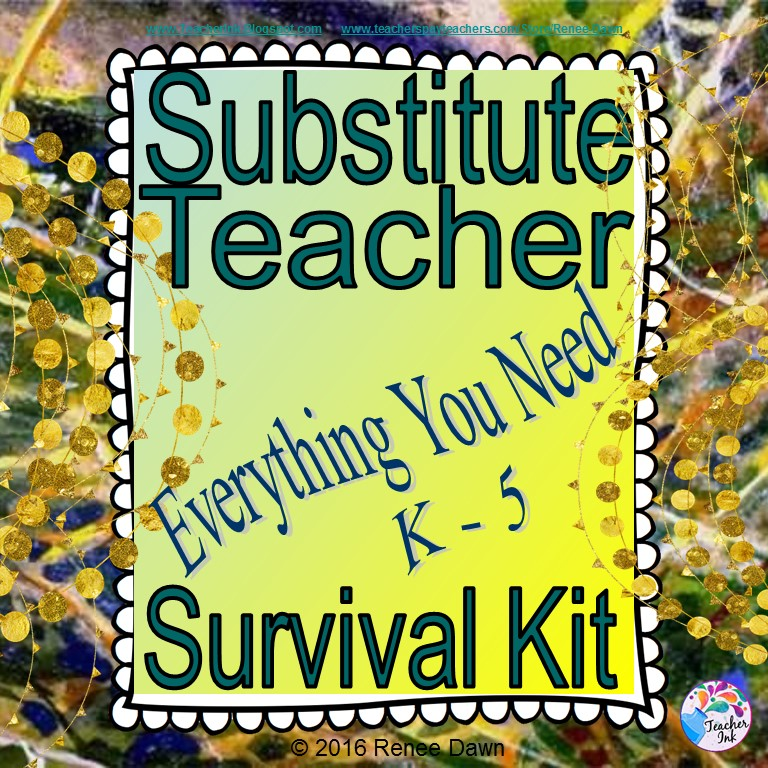 Substitute Teacher Guide & Printables