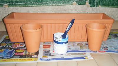 Aspecto da floreira antes de pintada e decorada