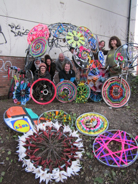 My first bicycle school of art wheel decorating scrap for 70 bike decoration