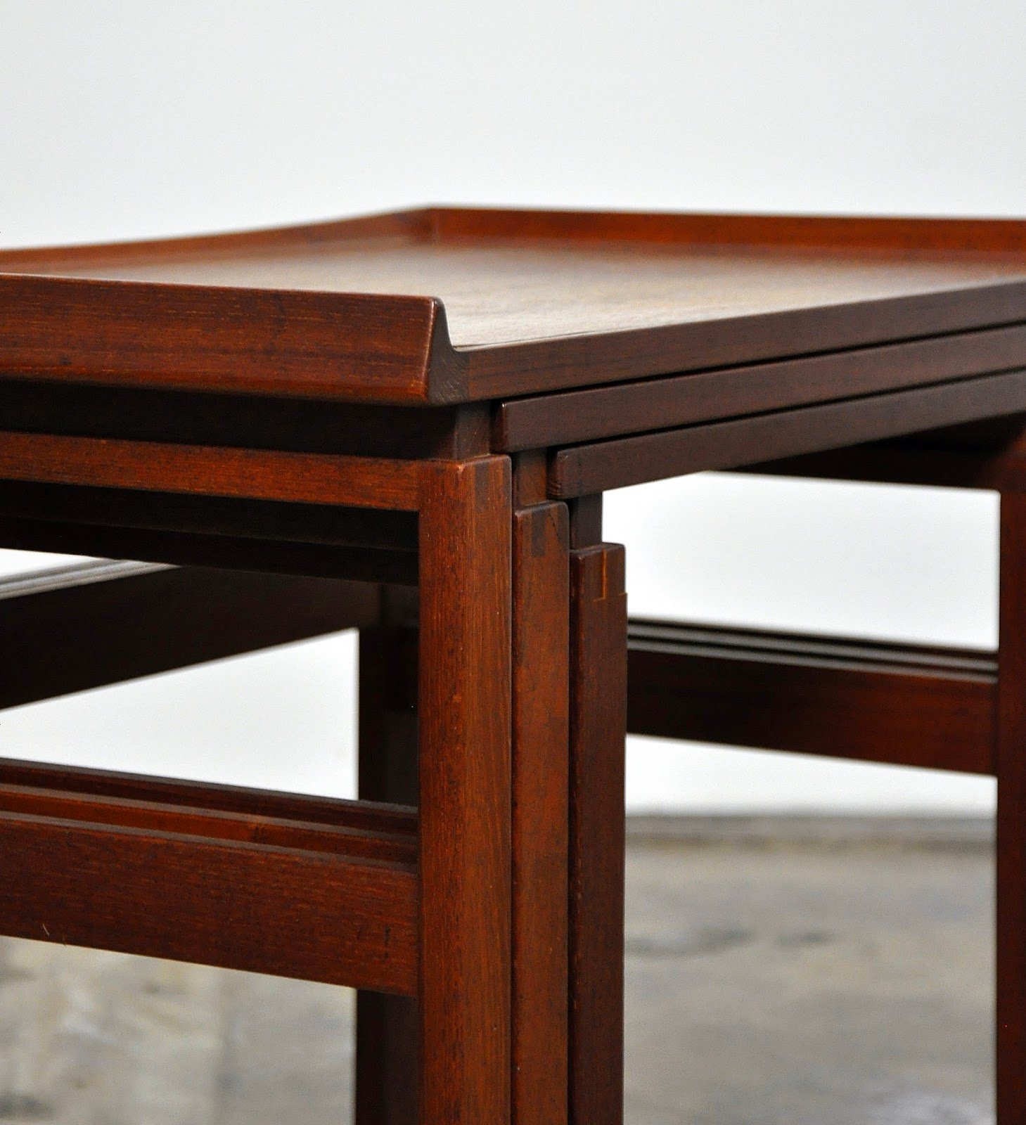 SELECT MODERN  Danish Modern Teak Nesting Tables