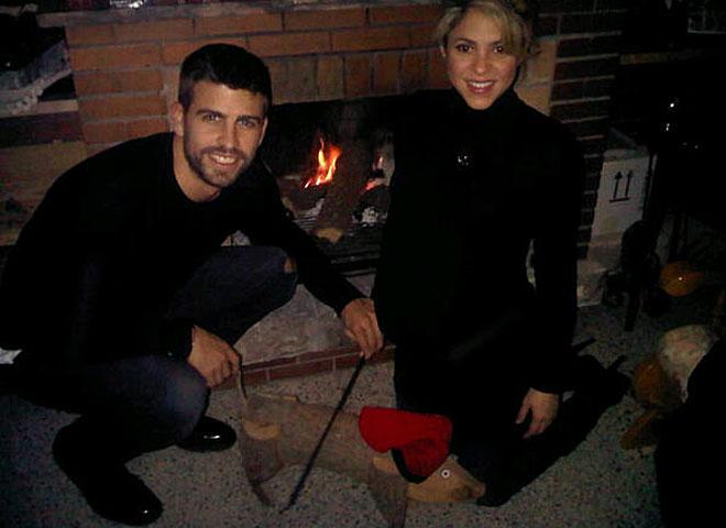 Piqué y Shakira celebrando la Navidad