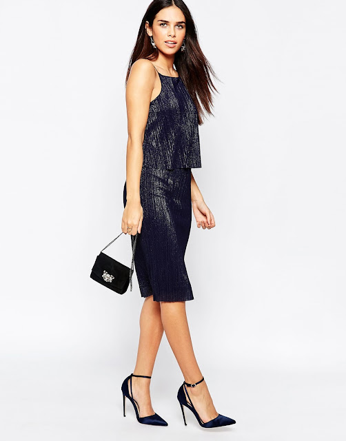 warehouse cami black sparkle dress, black layered metallic dress,