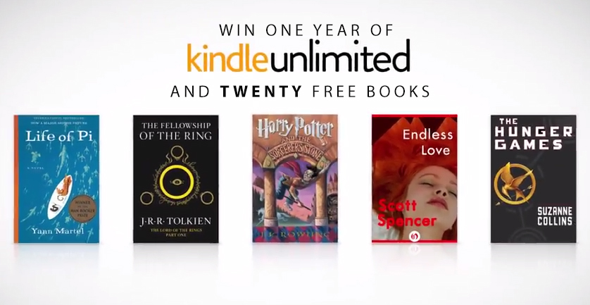 Enter to Win One Year of Kindle Unlimited