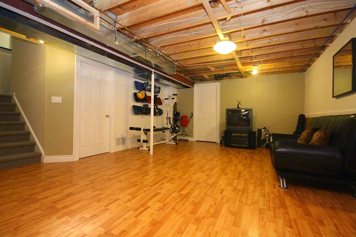 16 creative basement ceiling ideas for your basement for The floor decor