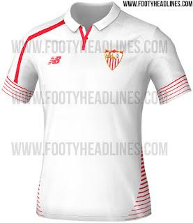 berita bocoran Gambar jersey Sevilla home terbaru musim 2015/2016