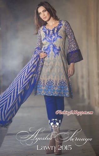 Ayesha Somaya S/S Lawn Collection 2015