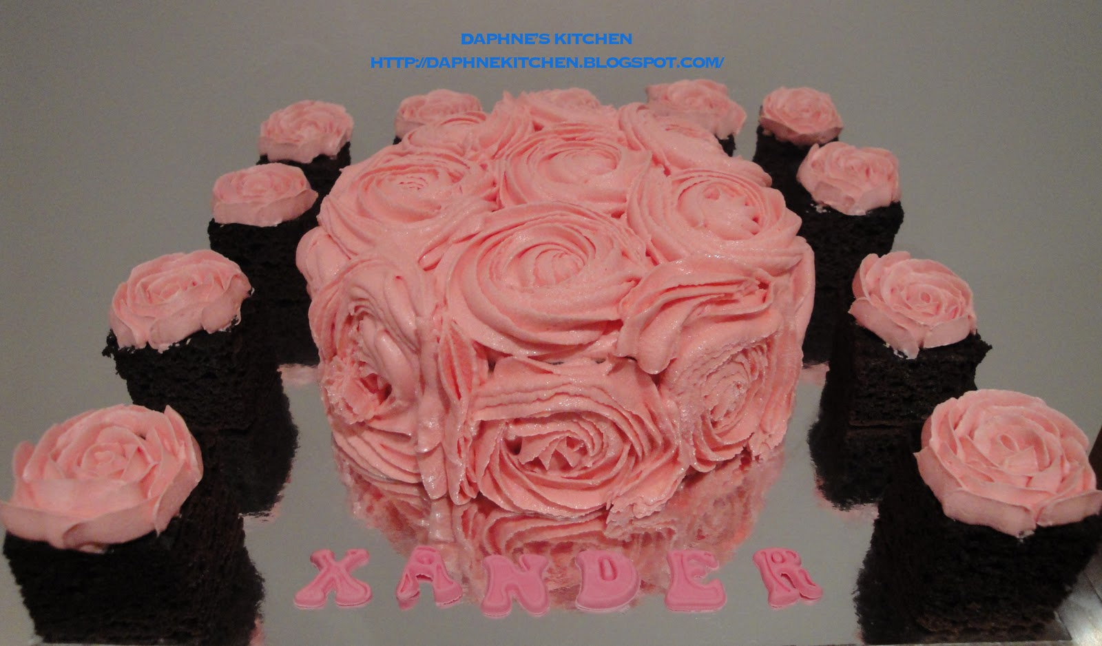 Daphnes Kitchen Pink Roses Theme Birthday Cake For Him