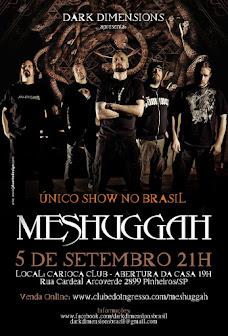 Meshuggah Brazil tour 2016
