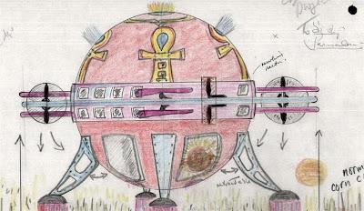 UFO creating a crop circle