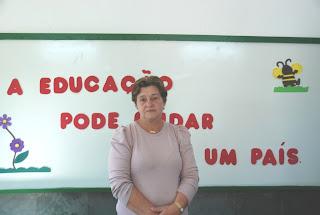 Beatriz Rabello: ex-aluna, professora e diretora se emocionou ao ver a Escola João Adolpho Josetti totalmente revitalizada