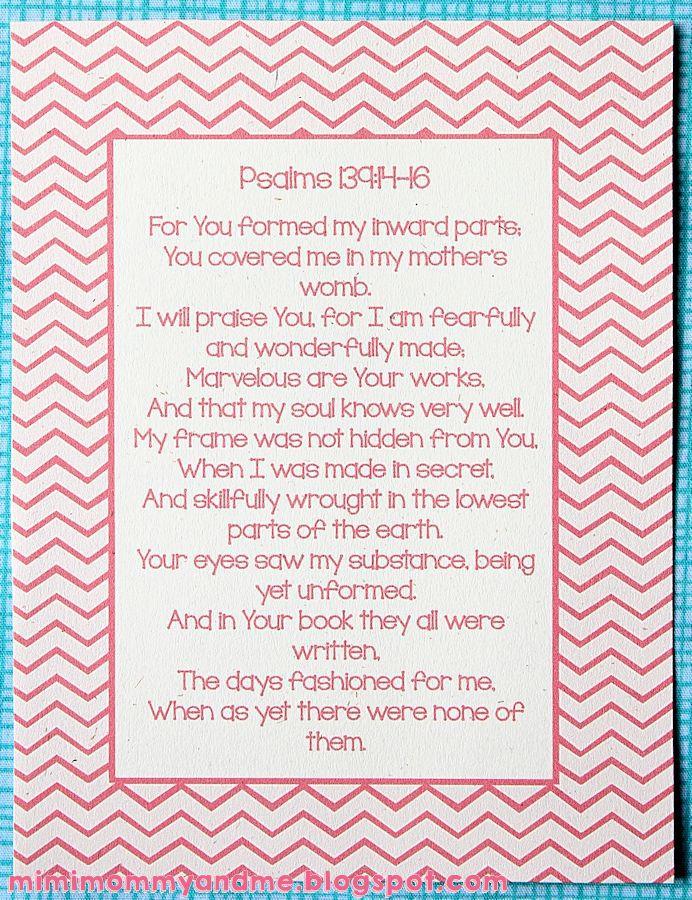 Baby Verse Psalm 139 - Free Printable