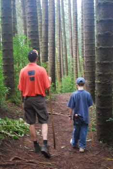 Dad and Jon hiking in Honolulu