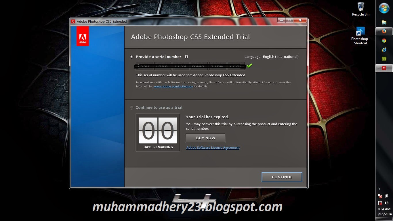 photoshop provide serial number cs5