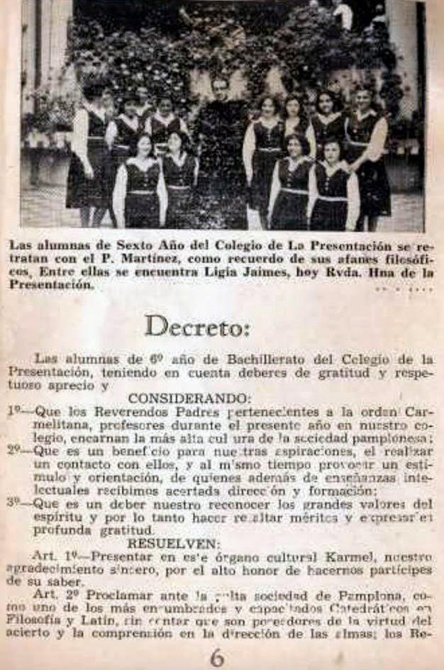 Culminación del año Escolar y Graduación de Bachilleres de 1961