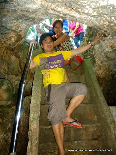 stairs in Hinagdanan Cave Panglao Island Bohol