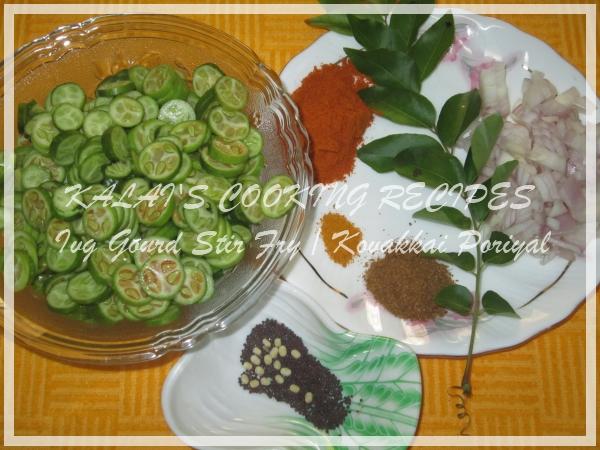 Ivy Gourd Stir Fry   Kovakkai Poriyal   கோவைக்காய் ...