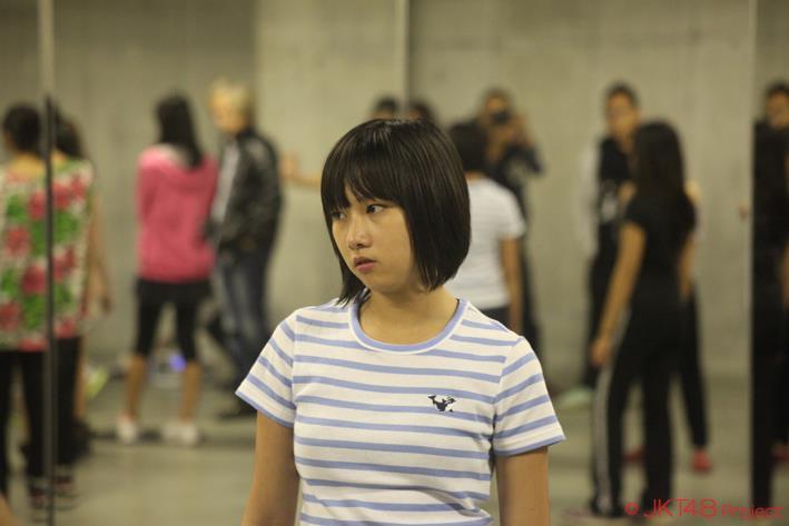 Dhike JKT48 pada saat latihan