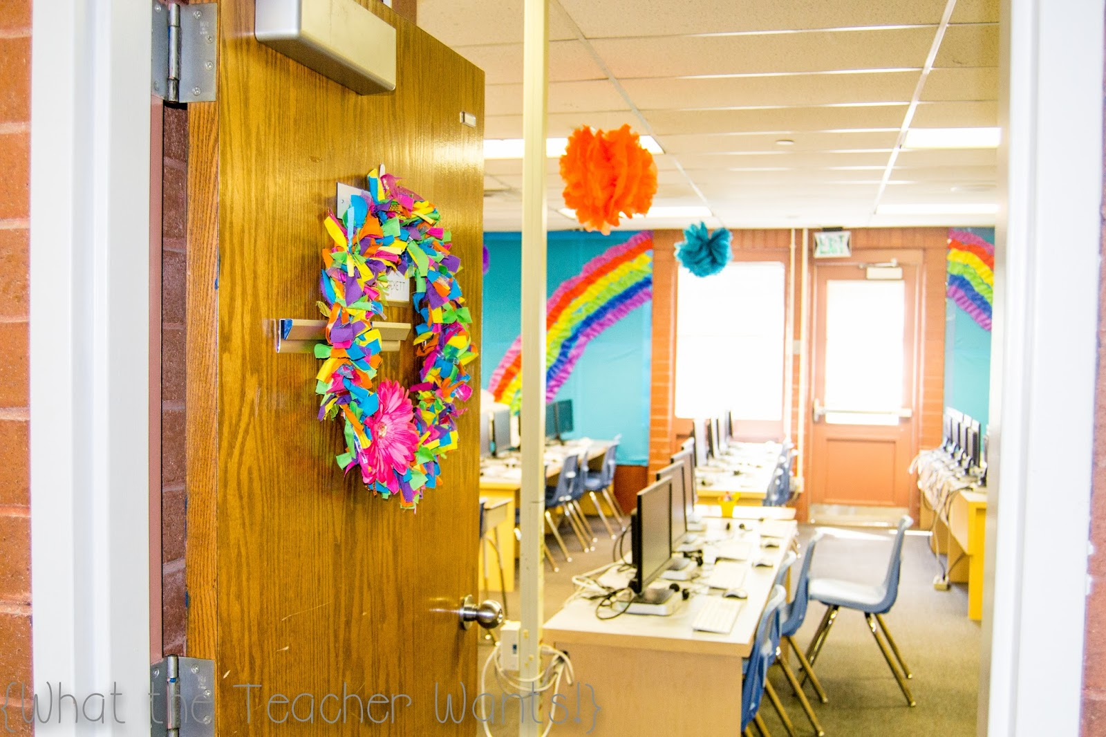 Classroom Decoration Rainbow ~ What the teacher wants classroom tour compter lab