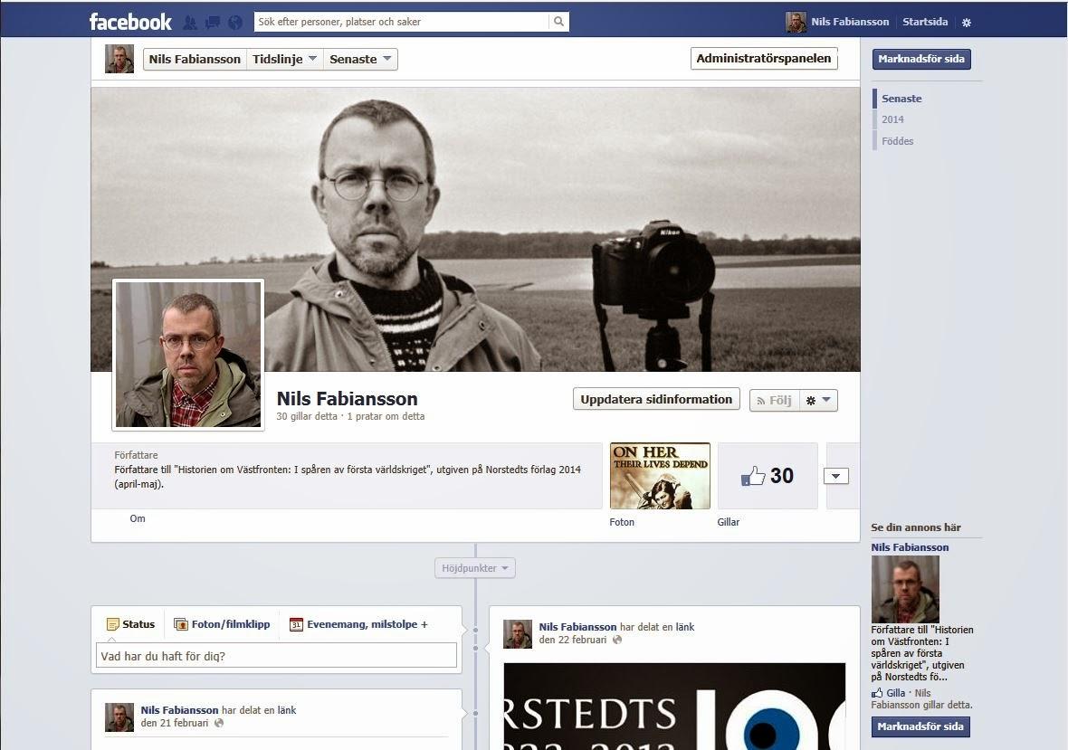 Följ Nils Fabianssons officiella författar-Facebook-sida