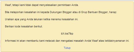 Cara Mengatasi Edit HTML Error Pada Blogger