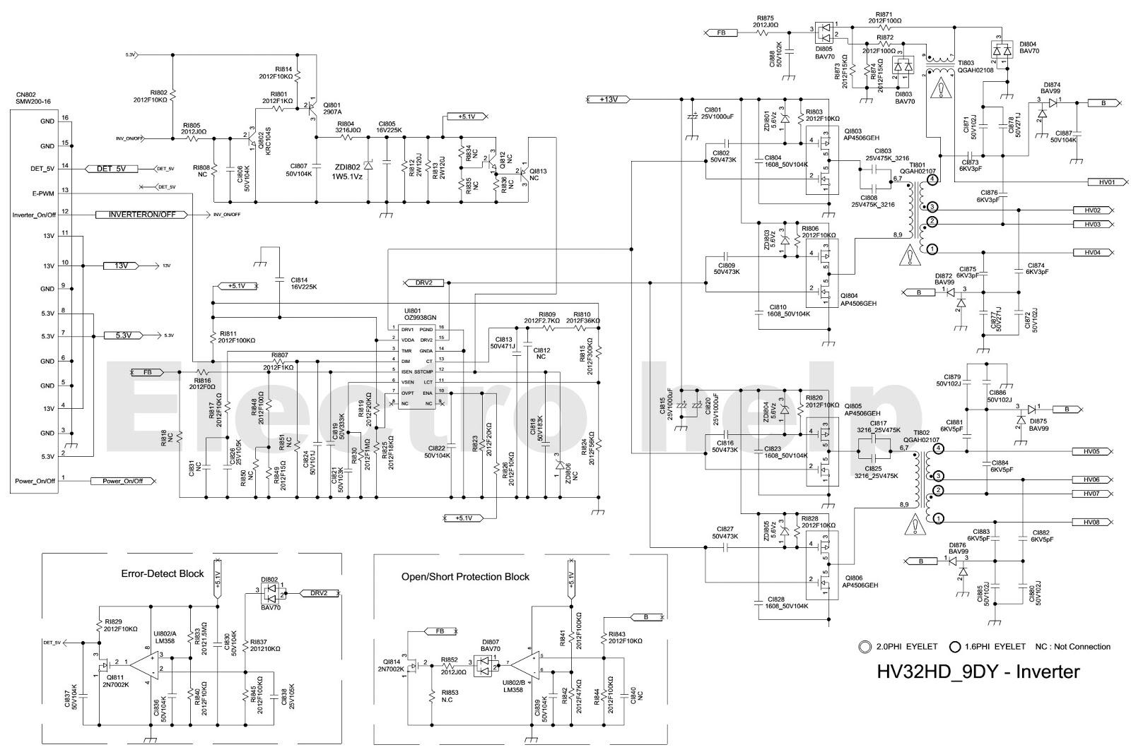 SAMSUNG LCD TV Power Supply BN44 00438A HV332HD Power and Back light