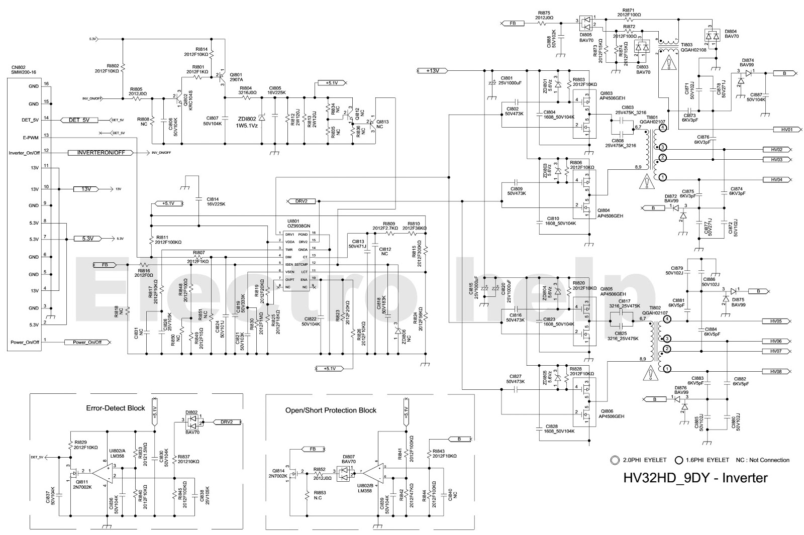 lcd inverter wiring diagram lcd image wiring diagram samsung lcd tv power supply bn44 00438a hv332hd power and back on lcd inverter wiring diagram