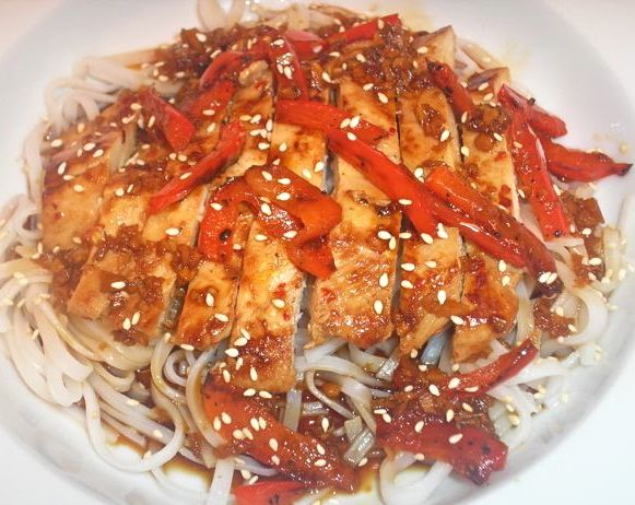 Chicken Teriyaki with Rice Noodles