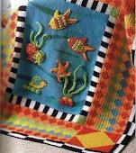 balıklı battaniye