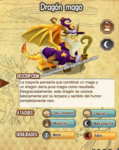 imagen de las caracteristicas del dragon mago