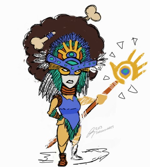 Populous - shaman