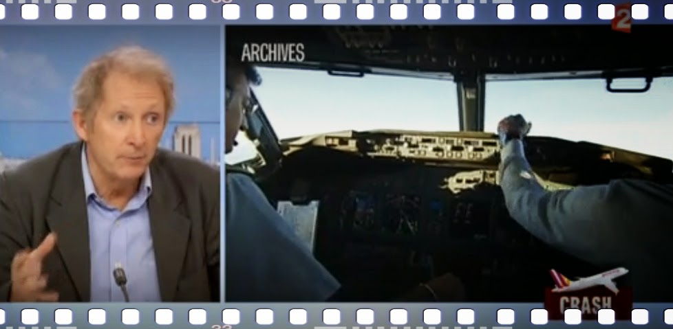 Fachmann und Archivbilder aus dem Cockpit