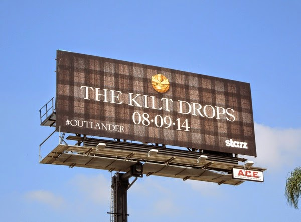 Kilt Drops Outlander teaser billboard