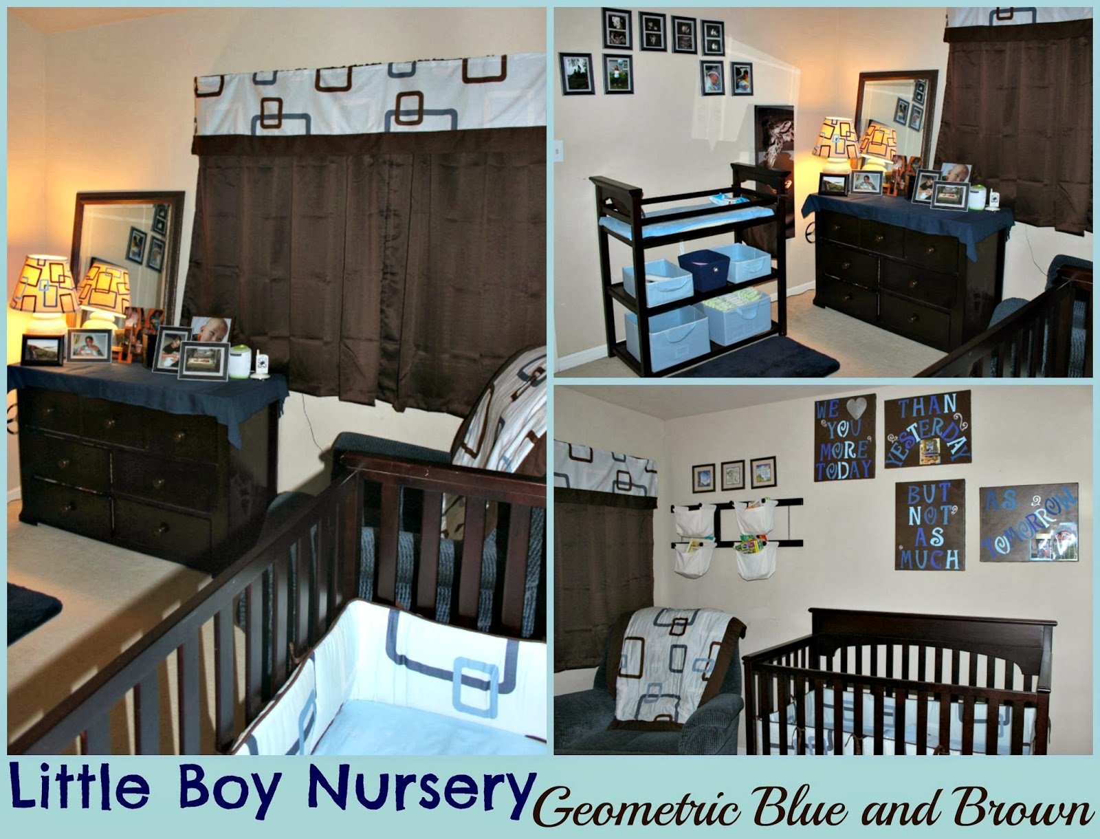 The Everyday Momma Code Blue and Brown Myles Bedroom