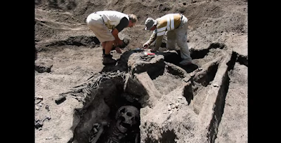 Mysterious giant skeletons were discovered by archaeologists
