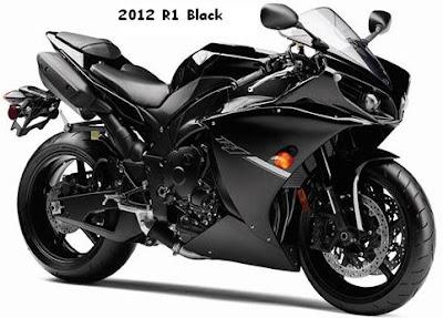 2012 Yamaha R1 color full black