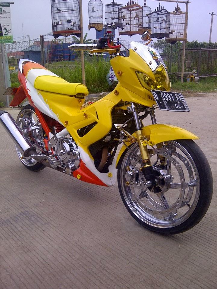 modifikasi new suzuki satria f150
